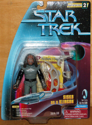 "Star Trek Sisko as a Klingon 4.5/"" Action Figure"