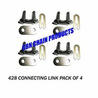 428 Connecting Master Link Motorcycle Atv Go Kart Pro-grade Pack Of 4