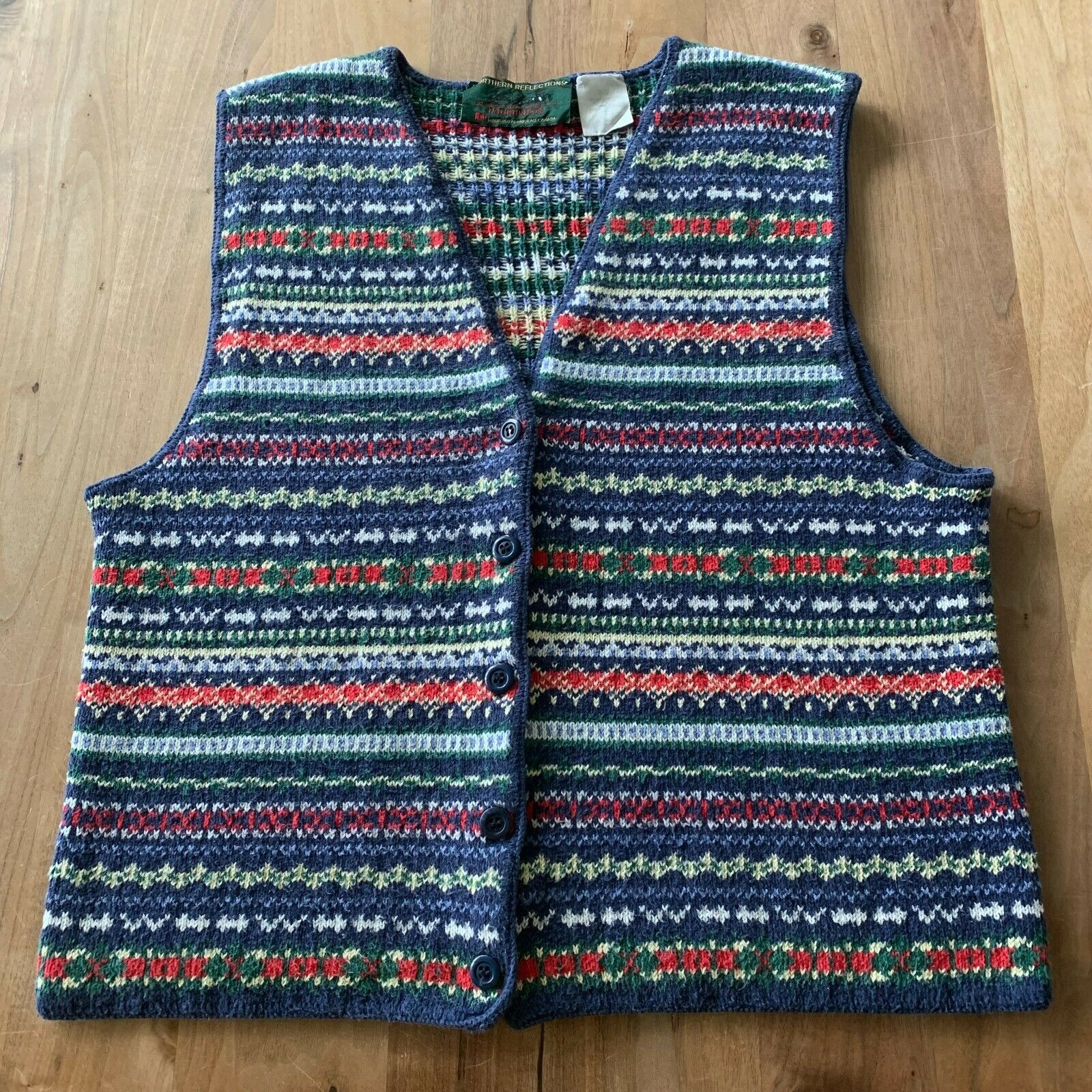 Vintage Women's Northern Reflections Exclusively By Parkhurst Button Up Vest MED