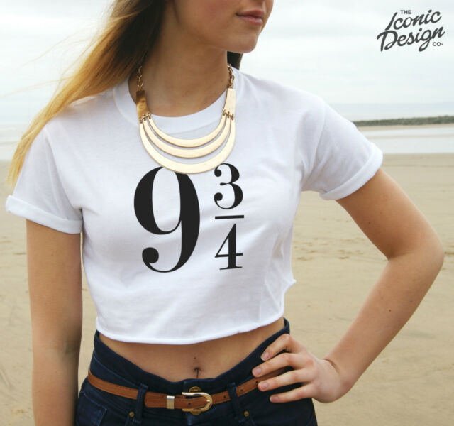 * 9 3/4 Harry Potter Crop Top Tank Platform Nine & Three Quarters Tumblr Film *