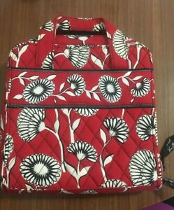 Purse bag of flowers white on red