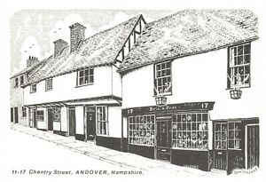 Art-Sketch-Postcard-11-17-Chantry-Street-Andover-Hampshire-by-Don-Vincent-AS1