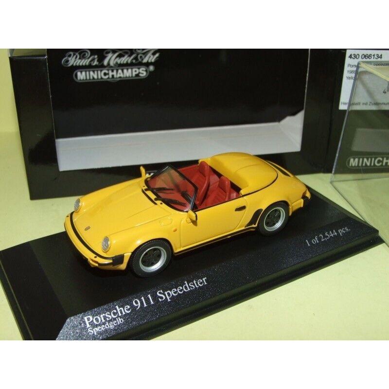 PORSCHE 911 SPEEDSTER Serie G 1988 Jaune jaune  MINICHAMPS 1 43