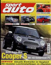 sport auto 4/02 2002 Jaguar S-Type R Bentley EXP Donkervoort D8 RCB 77 SL 55 AMG