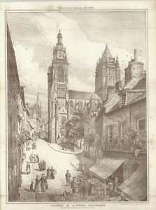 1887-Church-Of-Saint-pierre-Coutances-Drawn-By-Maurice-B-Adams