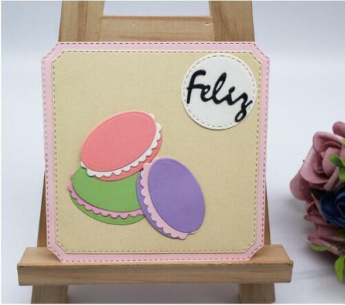 Cake METAL CUTTING DIES Oval dies making decor DIY scrapbooking photo album