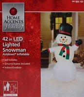 Airblown Inflatable Snowman Led 42 Christmas Yard Decoration
