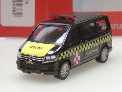"""Herpa VW T6 Multivan Flughafen /""""Fraport Safetycar/"""" 094382-1:87"""