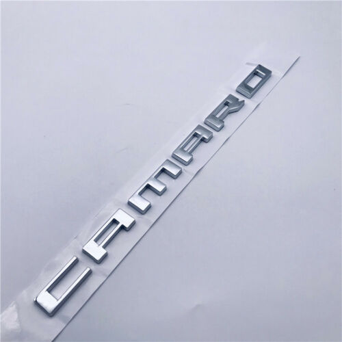 1pc Chrome Silver Metal Camaro Writing Letter Emblem Badge Tailgate Decal Bowtie