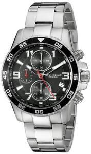 Stuhrling-985-02-Aquadiver-Concorso-Quartz-Chronograph-Silver-Tone-Mens-Watch