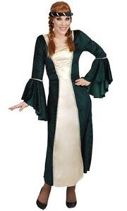 Womens-Medieval-Renaissance-GOT-maiden-dress-green-princess-fiona-Costume-S-M-L