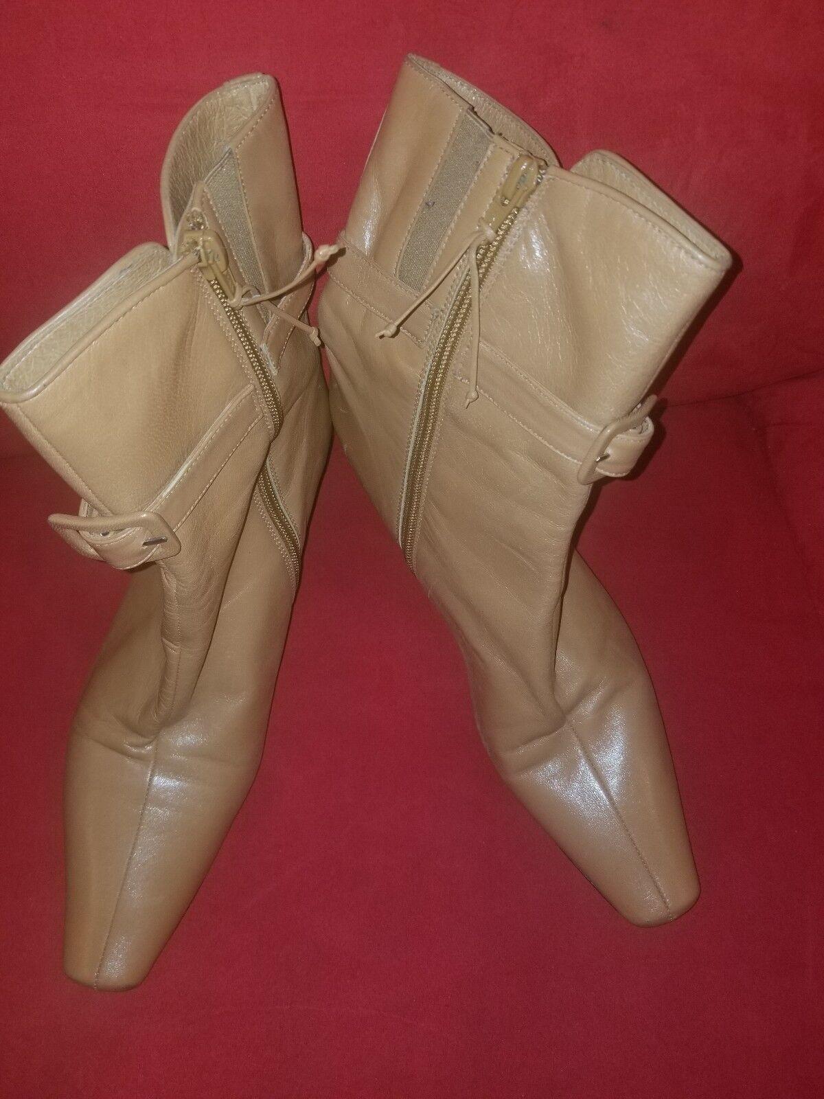 Donald Donald Donald J Pliner Leather Split Toe Zip Ankle Boots Sz 8.5M a25b0f