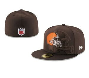 8966dc34 Details about New Era 59FIFTY 5950 CLEVELAND BROWNS ON FIELD SIDELINE 16  Fitted BallCap Hat