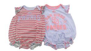Majestic San Diego Padres Baby//Infant 2 Piece Creeper Set
