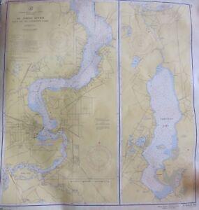 Vintage 1956 Geological Us Coast Geodetic Survey Map St Johns River - Us-coast-and-geodetic-survey-maps