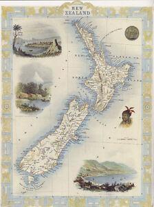 New Zealand Cities Map.Details About 1800 S Map New Zealand Cities Wellington Egmont Mt Bird Eye View Repro Poster
