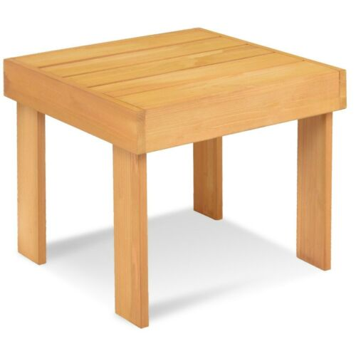 Garden Outdoor Small Size Outdoor Wooden Square End Side Accent Table Furniture
