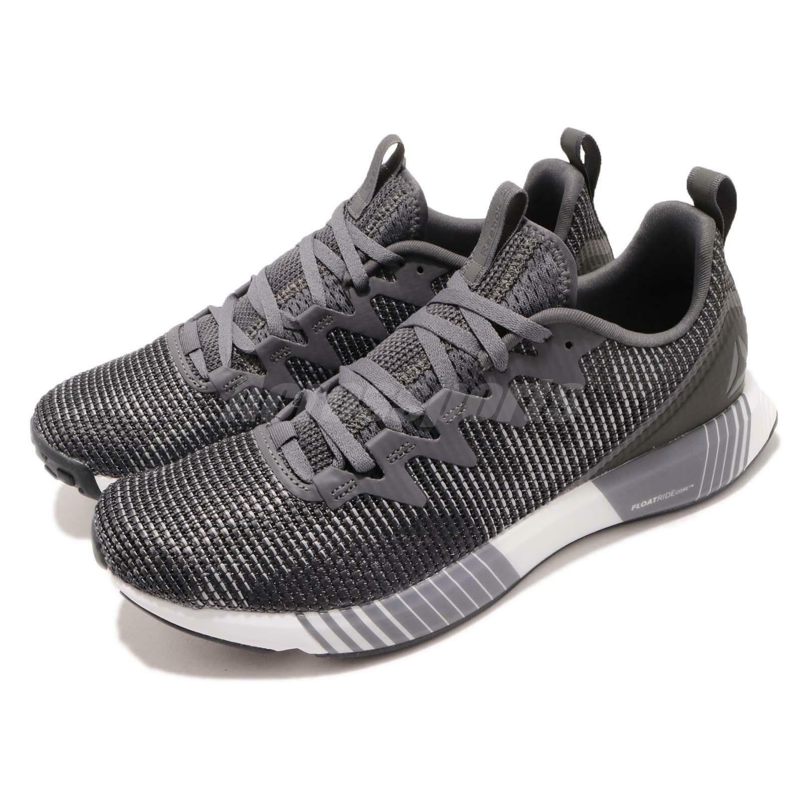 Reebok Fusion Flexweave Grey Coal White Men Running Training shoes Sneaker CN2854
