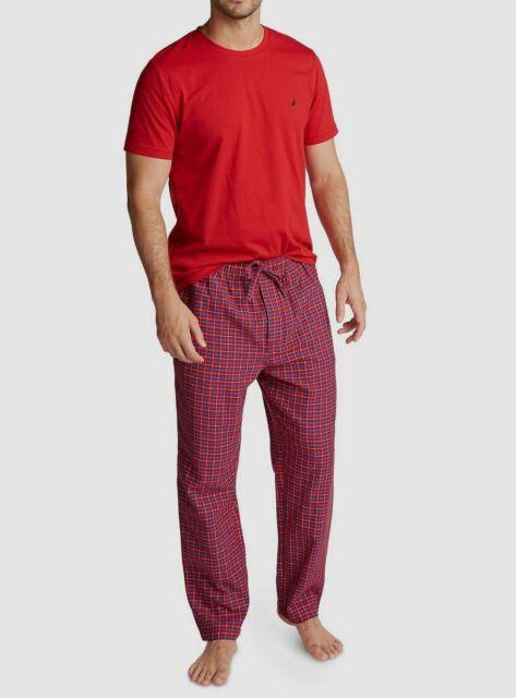 Nautica Mens Flannel Pant Pajama Set Pajama Set