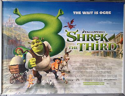 Cinema Poster Shrek The Third 2007 Main Quad Mike Myers Ebay