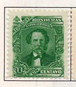 Capable Honduras 1893 Early Question Fine Comme Neuf Charnière 1 C. 175719 Fournir Des CommoditéS Pour Le Peuple; Rendre La Vie Plus Facile Pour La Population