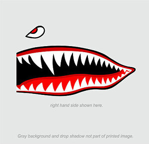 Flying-Tigers-shark-teeth-decal-sticker-10-034-t-x-24-034-w-WWII-Military-Airplane
