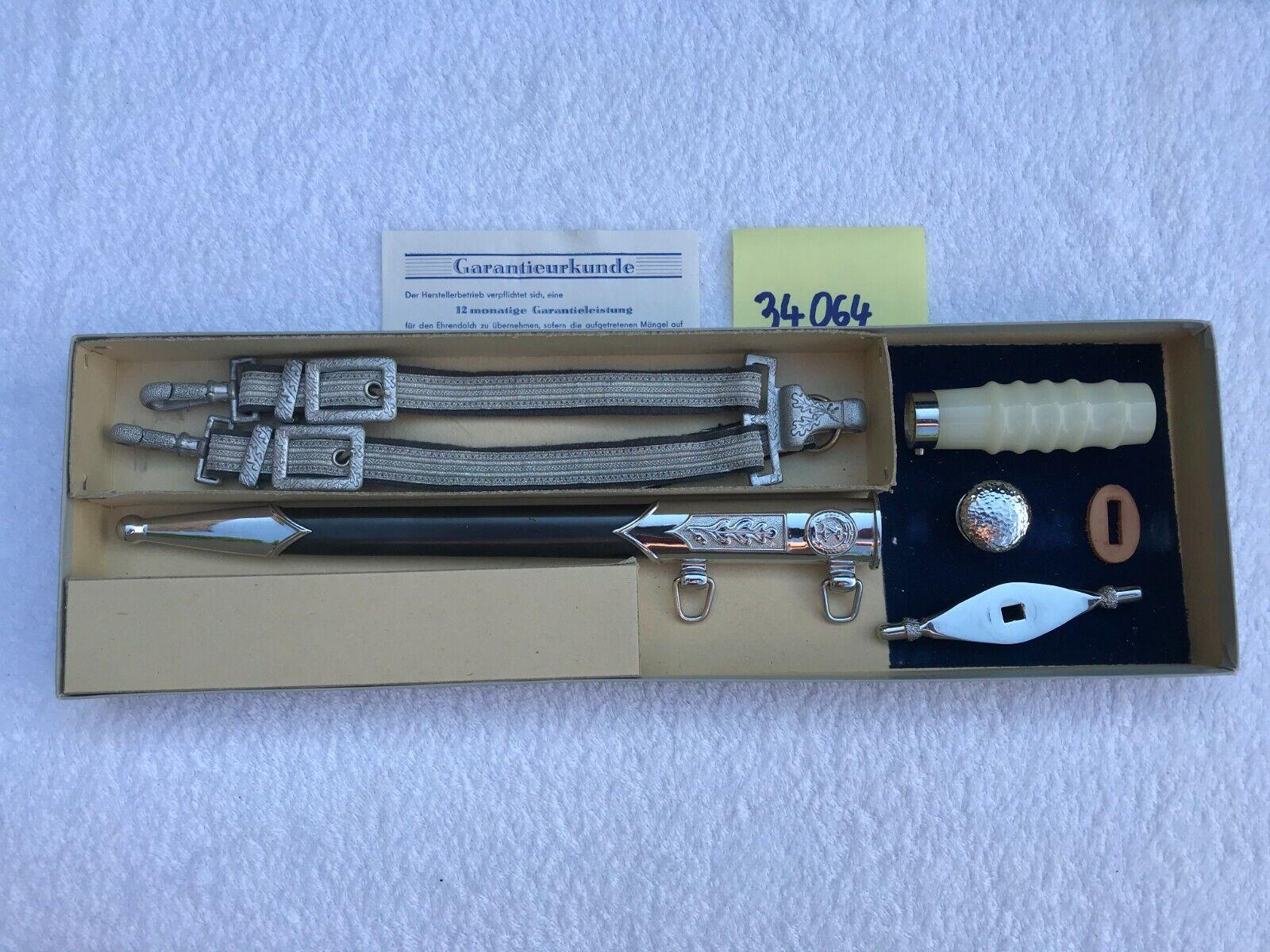 Bild 1 - NVA- Offizier Dolch Ersatzteile mit Karton, Garantieurkunde und Logo