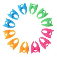 12pcs Colorful Bobbin Holders Clips Silicone Clamp Sewing Machine Accessory