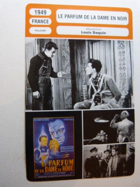 FICHE CINEMA ,LE PARFUM DE LA DAME EN NOIR , LOUIS DAQUIN , 1949, S.reggiani