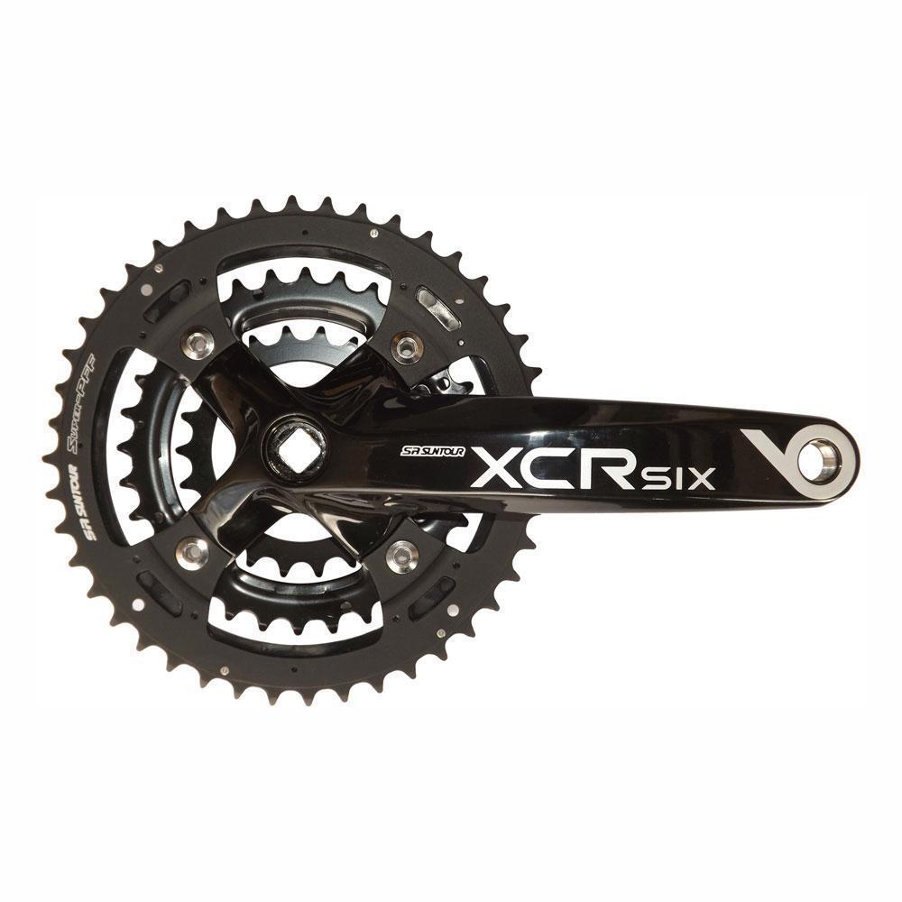 SR Suntour XCR6 175 223244 T 9 SPEED TRIPLE pedaliera in Nero