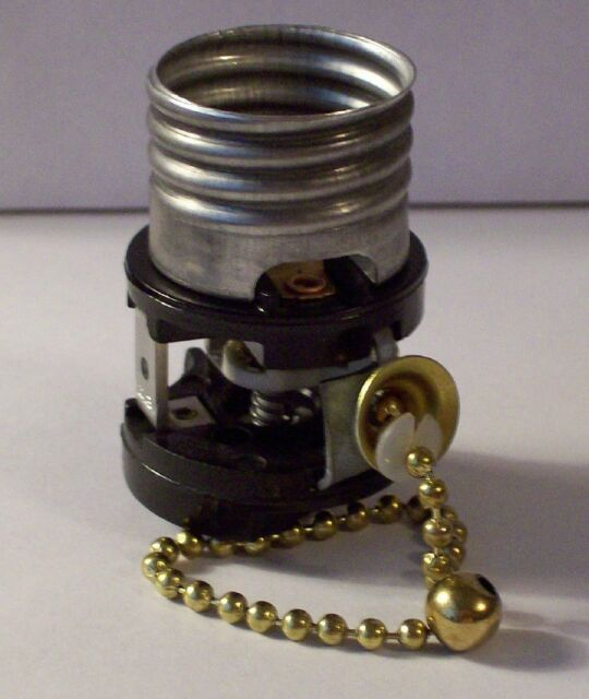 Leviton Pull Chain Interior Fat Boy Switch For Cer Socket Lamp Part 32219 K