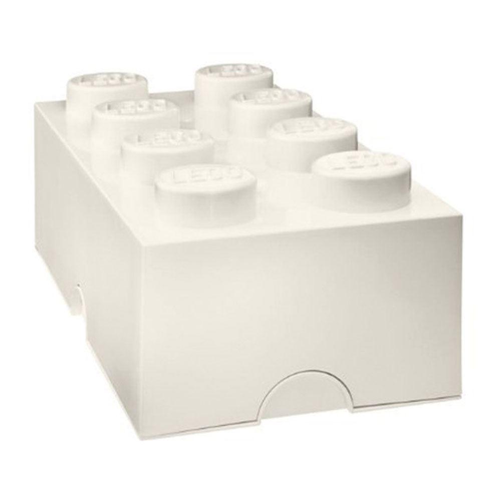 Lego Grande Scatola Portaoggetti Sigillato Mobili - 8 Bianco Mattone - Ufficiale