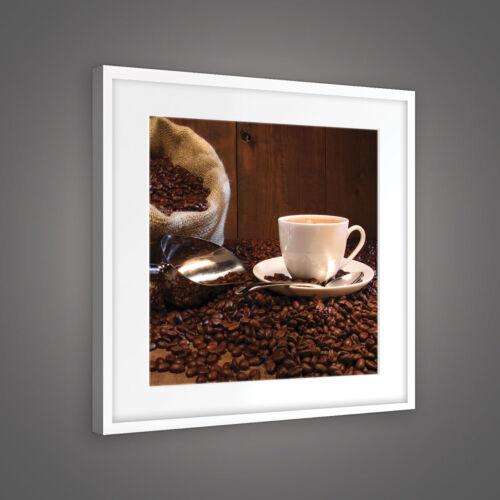 Canvas muro imagen imagen del lienzo imagen granos de café taza de café saco 3fx10916o5
