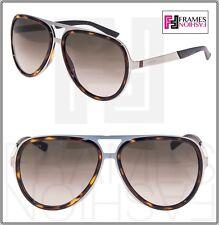 ff96623bf1 GUCCI Aviator 2247 Ruthenium Metal Brown Tortoise Sunglasses Gradient  GG2274S