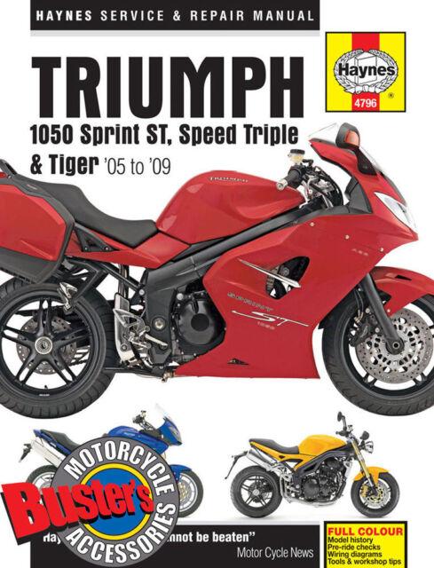 triumph sprint 1050 st abs 2010 haynes service repair manual 4796 ebay rh ebay co uk triumph sprint st 1050 workshop manual triumph sprint rs workshop manual