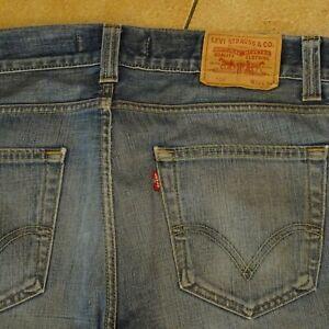 long jean LEVI'S 506 Standard bleu clair used W36 L34 homme t 46