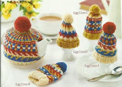 KNITTING PATTERN FOR A SET OF TEA COSY AND EGG COSY IN ...
