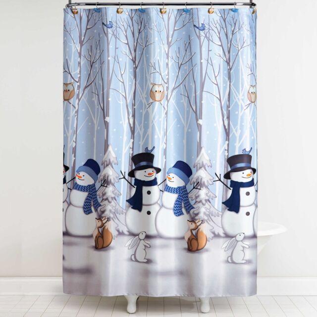 Bed Bath Beyond Holiday Snowman Friends Winter Blues Shower