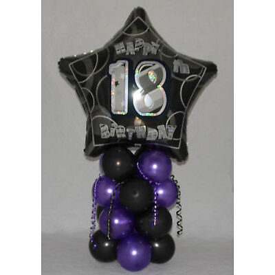 18th BIRTHDAY - AGE 18 - FOR BOTH -  FOIL BALLOON DISPLAY - TABLE CENTREPIECE
