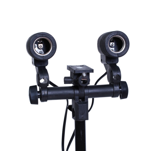 Studio Double AC Swivel Socket Adatper Light Stand Mount Umbrella Bulb Holder