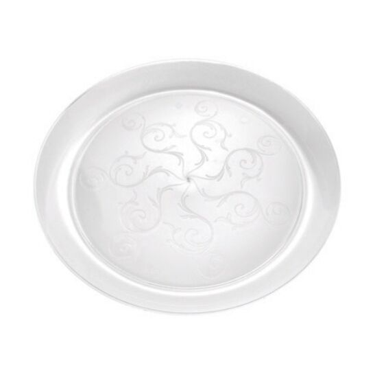 240 9  Clear Round Heavy Duty Disposable Wedding Plates