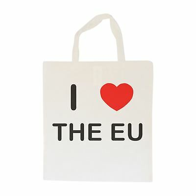 I Love The Eu - Cotton Bag | Size choice Tote, Shopper or Sling