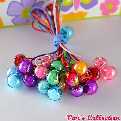 1 Paio Di Donne Ragazze Candy Colore Elastico Coda Di Cavallo Titolare Capelli Fascia Capelli Corda-