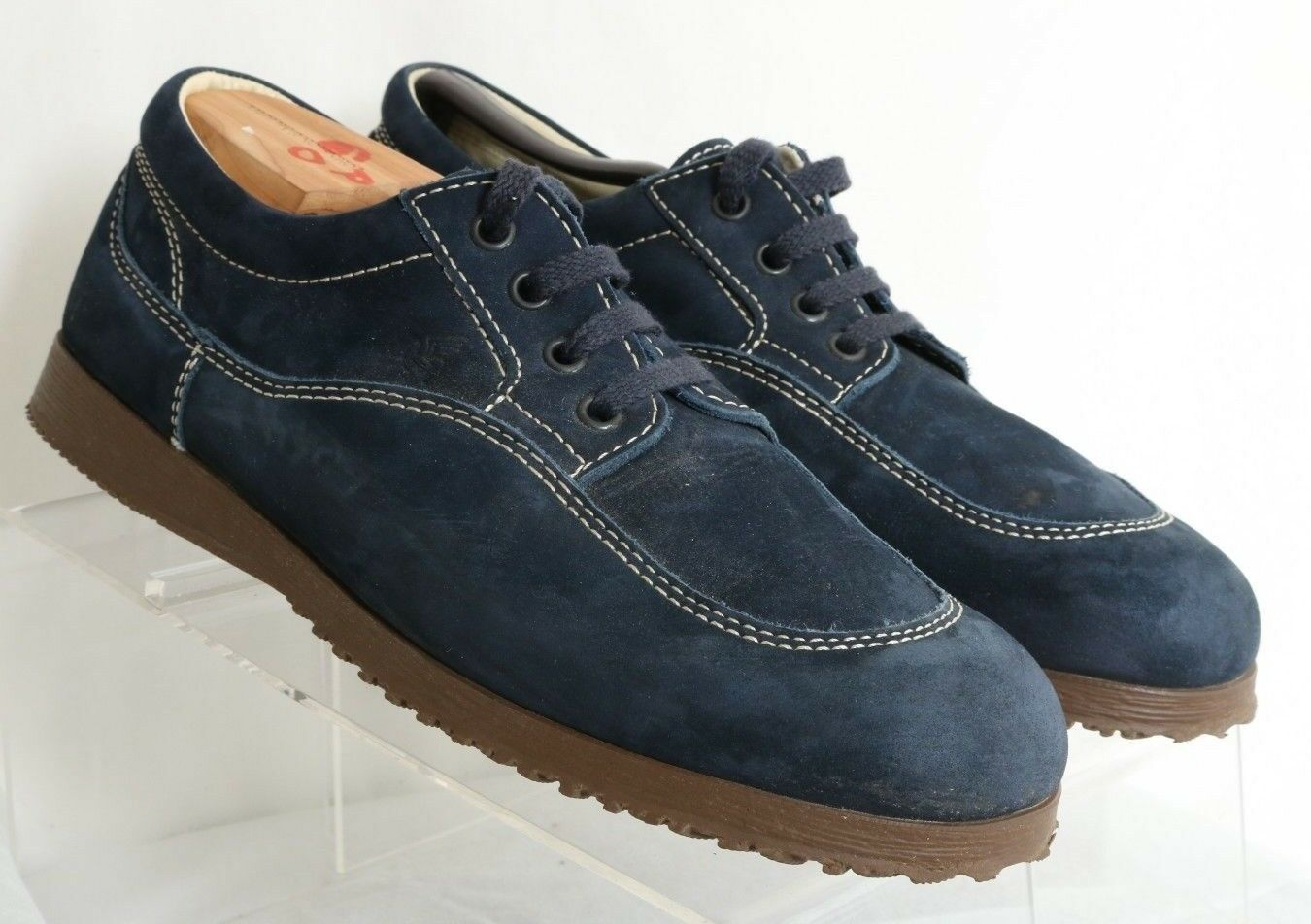 sconto online Hogan Navy blu Leather Lace-Up Lace-Up Lace-Up Stitch Casual 4-Eye Oxford Donna US 8  nuovo sadico