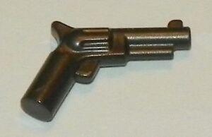 Lego Weapon Flat Silver Gray Pistol Gun Revolver Style Police ☀️NEW