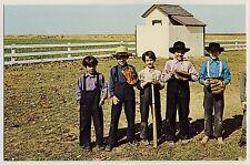USA AMISH CHILDREN'S BASEBALL GAME / AMISCHE KINDER * Vintage 60s PC / AK