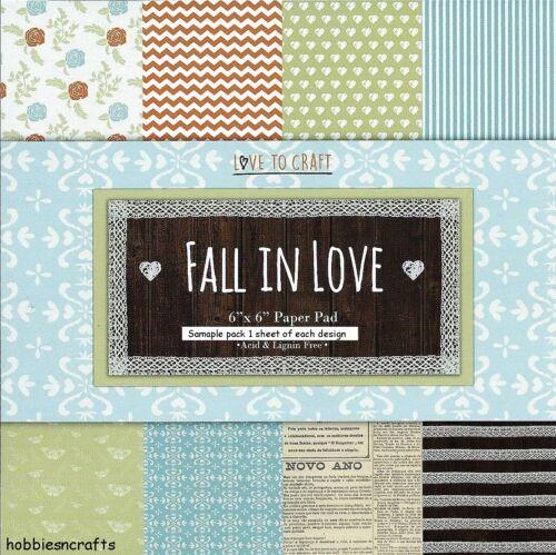 6 X 6 paquete de muestra 12 Hojas TRIMCRAFT Love to Craft se enamoran documentos