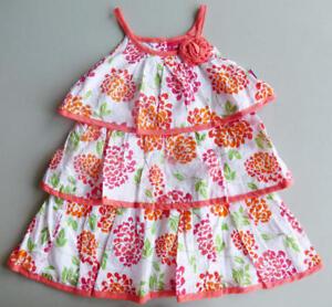83c519a42202 PENNY M Toddler Girls  2T Orange Floral Swiss Dot Sun Dress NWT  24 ...