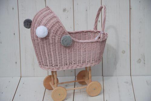 Taille moyenne-style vintage en osier poupées landau-Handmade-Baby Shower cadeau