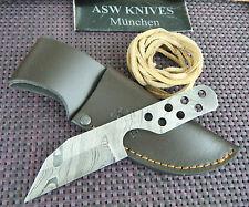 Messerbausatz Damast Messer Damascus blank blade damastklinge mit Messerscheide